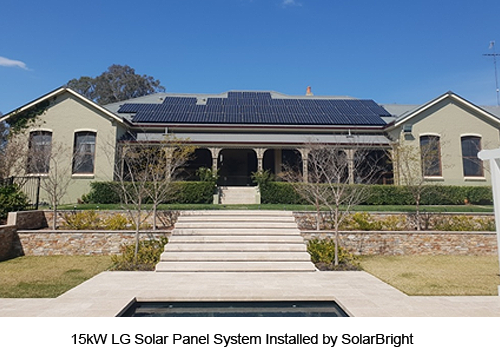 15KW LG Solar Panel System Installed by SolarBright