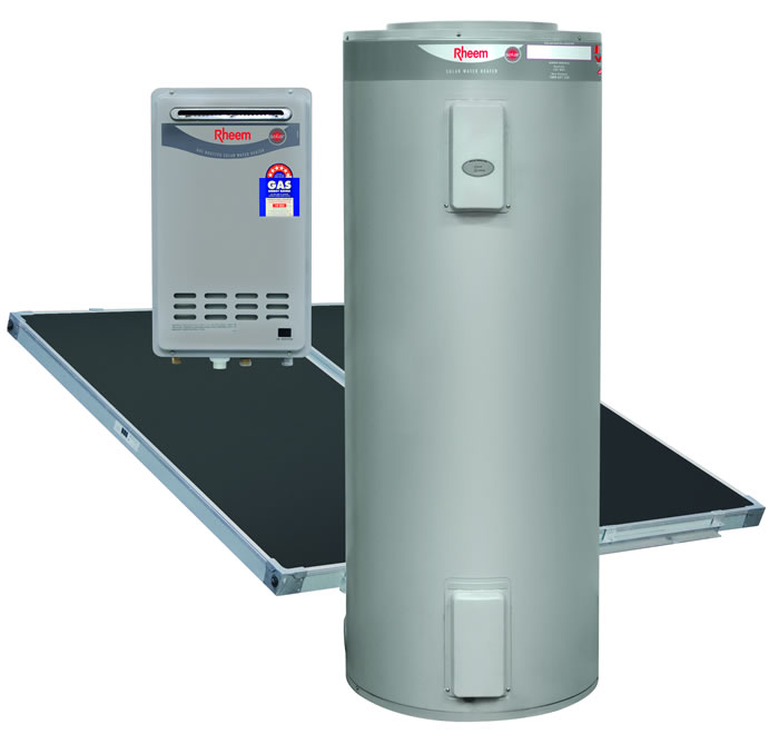 Rheem Ground Mounted Solar Hot Water Heater With Gas Booster