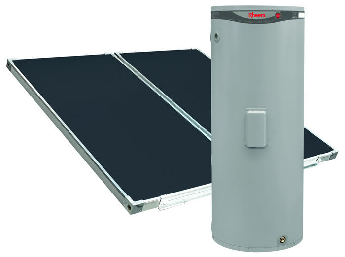 Rheem 511 Series Ground Mounted Solar Hot Water Heater with Electric Boost