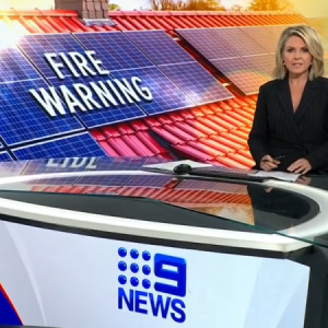 Channel Nine TV News report on the risk associated with cheap solar.