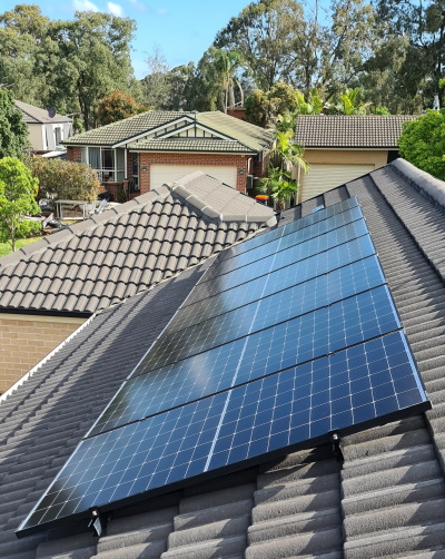 Max Powewr panels installed on a roof